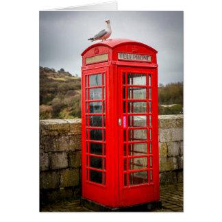 Cartes Mouette sur la cabine téléphonique
