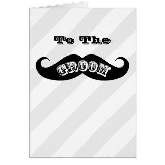 Cartes Moustache drôle de marié de hippie