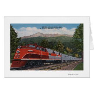 Cartes Mt. rocheux Rocket (train), crête de brochets, le