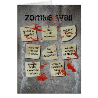 Cartes Mur de zombi
