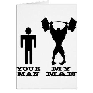 Cartes Musculation votre homme contre mon homme