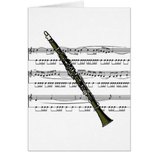 Cartes Musical 09 B de clarinette