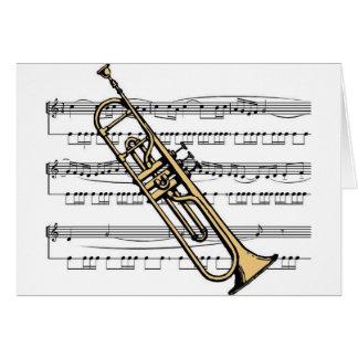 Cartes Musical 11 B de trompette