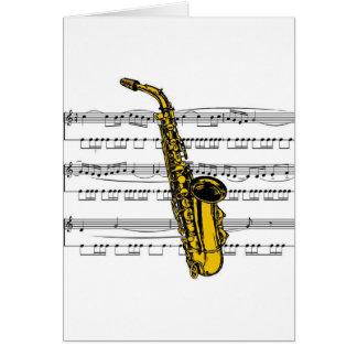 Cartes Musical 13 B de saxophone