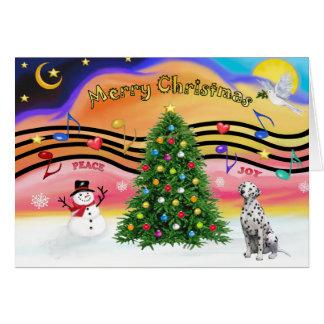 Cartes Musique 2 de Noël - Dalmate