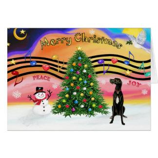 Cartes Musique 2 de Noël - great dane (uncropped noirs)