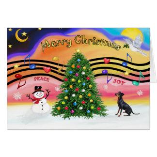 Cartes Musique 2 de Noël - Manchester Terrier