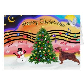 Cartes Musique 2 de Noël - poseur irlandais