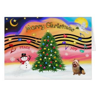 Cartes Musique 2 de Noël - Terrier australien
