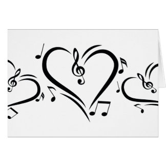 Cartes Musique d'amour de clef d'illustration