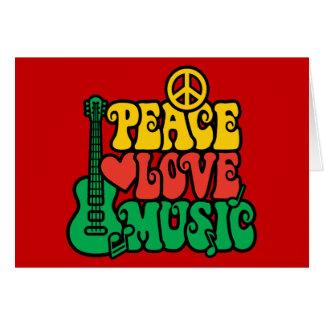 Cartes Musique d'amour de paix de reggae