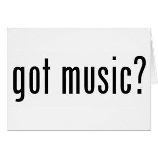 Cartes musique obtenue ?