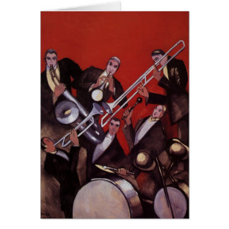 Cartes Musique vintage, bloquer musical de jazz-band