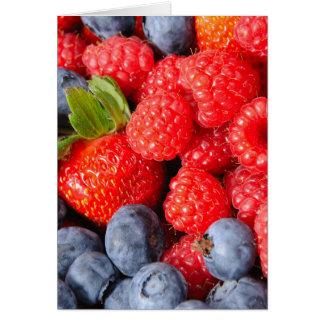 Cartes Myrtilles et framboises de fraises