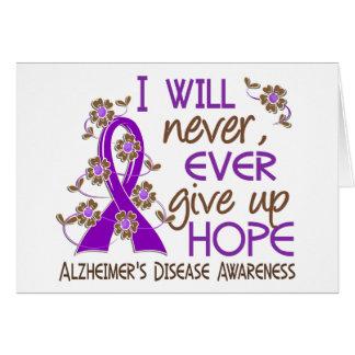 Cartes N'abandonnez jamais la maladie d'Alzheimer de