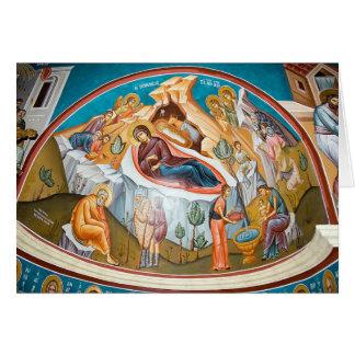 Cartes Naissance du Christ - peinture murale