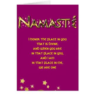 Cartes Namasté
