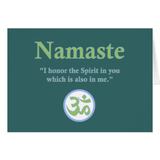 Cartes Namaste - avec la citation et le symbole de l'OM