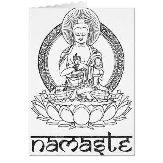 Cartes Namaste Bouddha