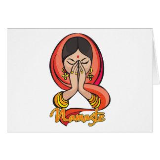 Cartes Namaste indou