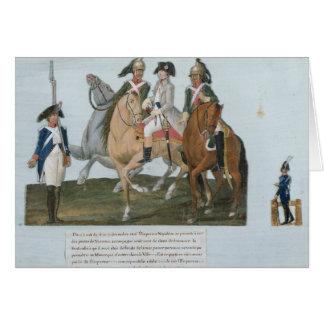 Cartes Napoleon Bonaparte et la sentinelle de Varsovian