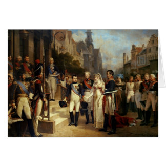 Cartes Napoleon Bonaparte recevant la Reine Louisa
