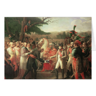Cartes Napoleon Bonaparte recevant les clés