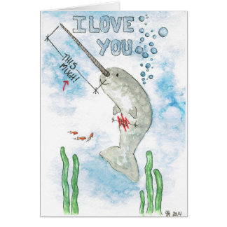 Cartes Narwhal vous aime thi….CE BEAUCOUP !