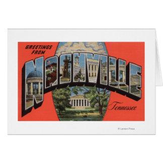 Cartes Nashville, Tennessee - grandes scènes 2 de lettre