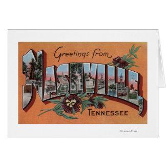 Cartes Nashville, Tennessee - grandes scènes de lettre