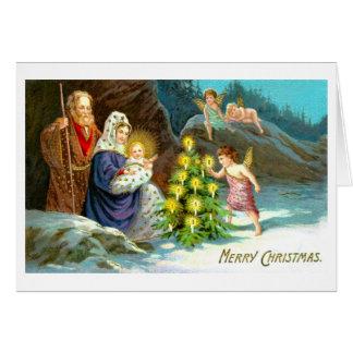 Cartes Nativité dans la neige