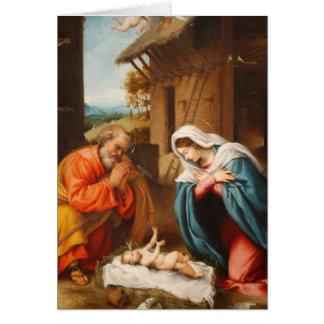Cartes Nativité par Lorenzo Lotto