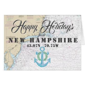 Cartes Nautique bonnes fêtes du New Hampshire