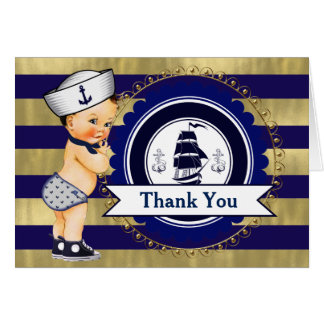 Cartes nautiques de Merci de baby shower