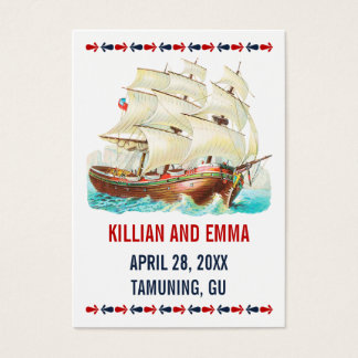 Cartes nautiques vintages d'endroit de mariage