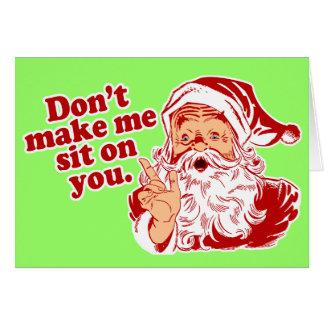 Cartes Ne faites pas Père Noël se reposer sur vous