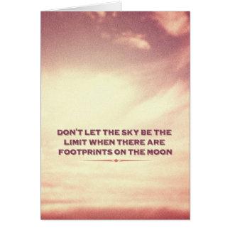 Cartes Ne laissez pas le ciel être la limite…