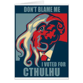 Cartes Ne me blâmez pas, j'a voté pour Cthulhu