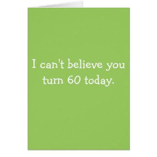 Cartes Ne peut pas vous considérer de tourner 60