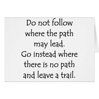 Cartes Ne suivez pas