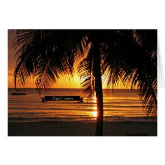 Cartes Negril, coucher du soleil de la Jamaïque