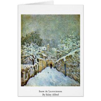 Cartes Neige chez Louveciennes par Sisley Alfred