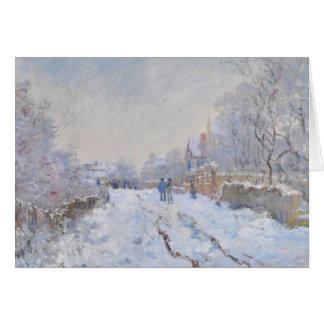 Cartes Neige de Claude Monet //à Argenteuil
