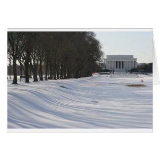 Cartes neige du Lincoln Memorial