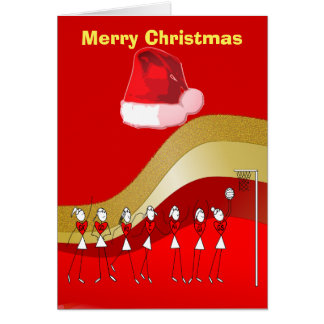 Cartes Net-ball de thème de Noël