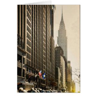 Cartes New York, St d'E 42 et construction de Chrysler