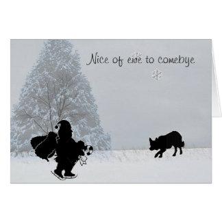 "Cartes ""Nice de brebis Noël de colley de ~Border à"