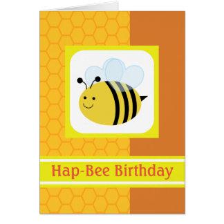 Cartes Nid d'abeilles de bourdon d'anniversaire de