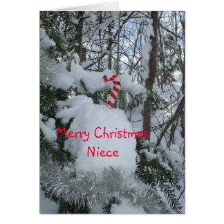 Cartes Nièce de sucre de canne de Joyeux Noël
