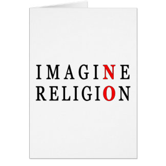 Cartes N'imaginez aucune religion